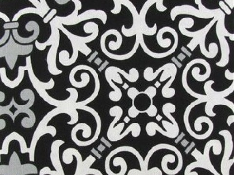 2.00 Black & White Damask Backdrop