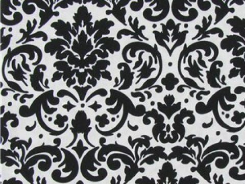 1.9 White & Black Damask Backdrop